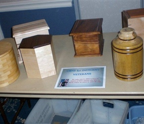 URNS FOR VETERANS MADE BY TAMPA WOODWORKING CLUB AND A FEW BY OUR MEMBERS