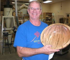 LARGE BOWL BY RON BROWNIN