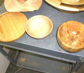BOWL AND PLATTER BYJENNY PARKER ALSO BOWL BY LIZ MAHON