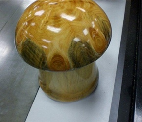 MUSHROOM  LIDDED BOX BY JOHN HEREG