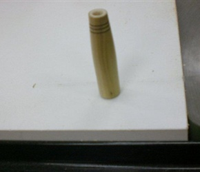 JUMP ROPE HANDLE MADE BY FRANK GIACCONE HE MADE AROUND 400 FOR THE KID