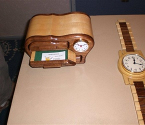 JEWELRY BOX CLOCK AND WRIST WATCH CLOCK BY CHARLIE MURRY
